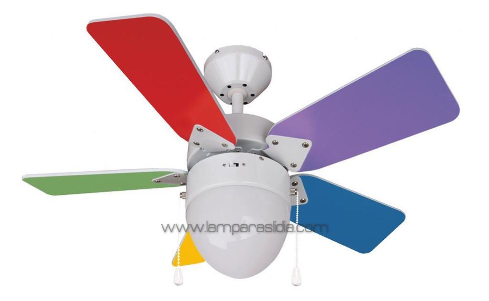 Iluminaci n y l mparas en madrid ventajas de los - Ventiladores de techo rusticos ...