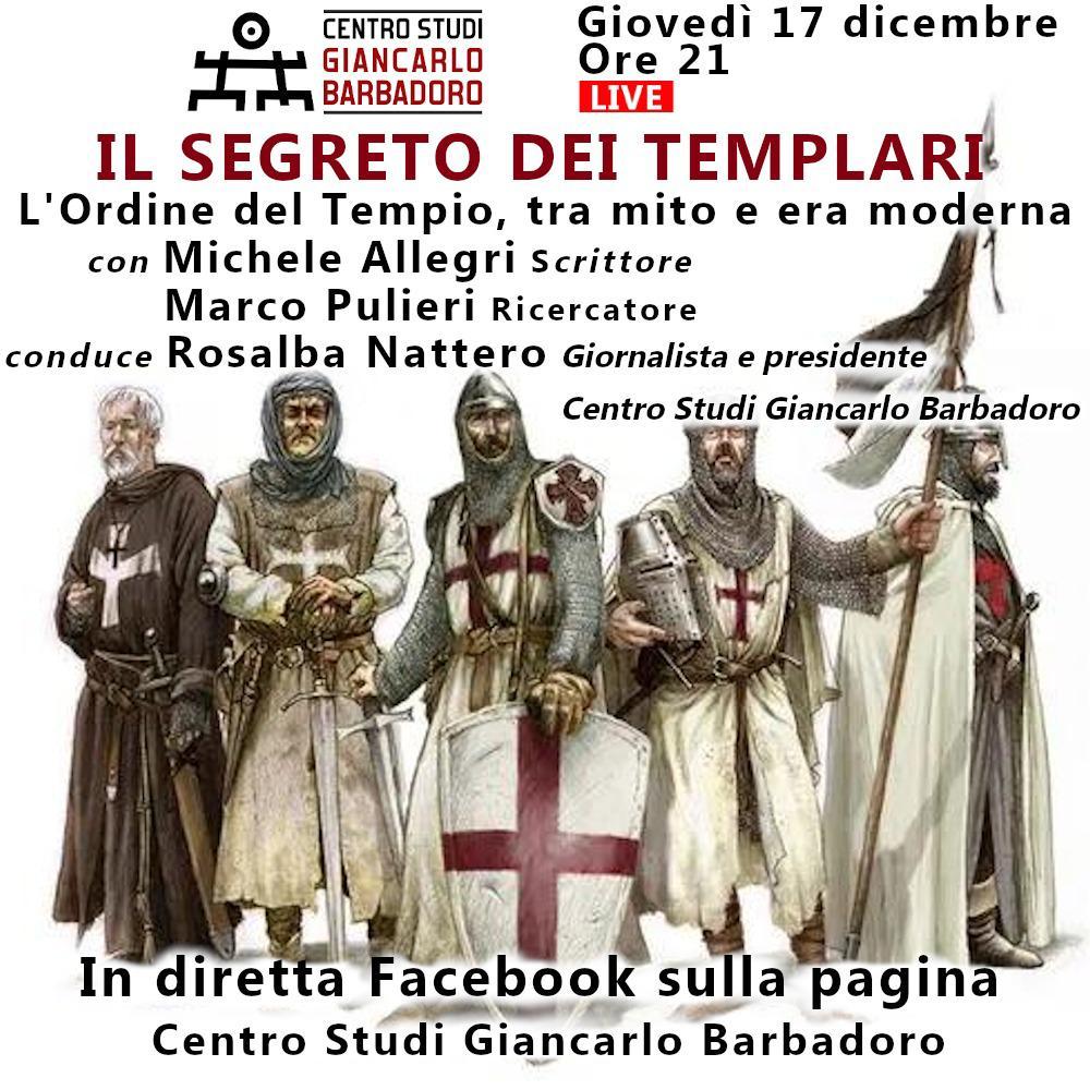 """Conferenza online """"Il segreto dei Templari"""""""