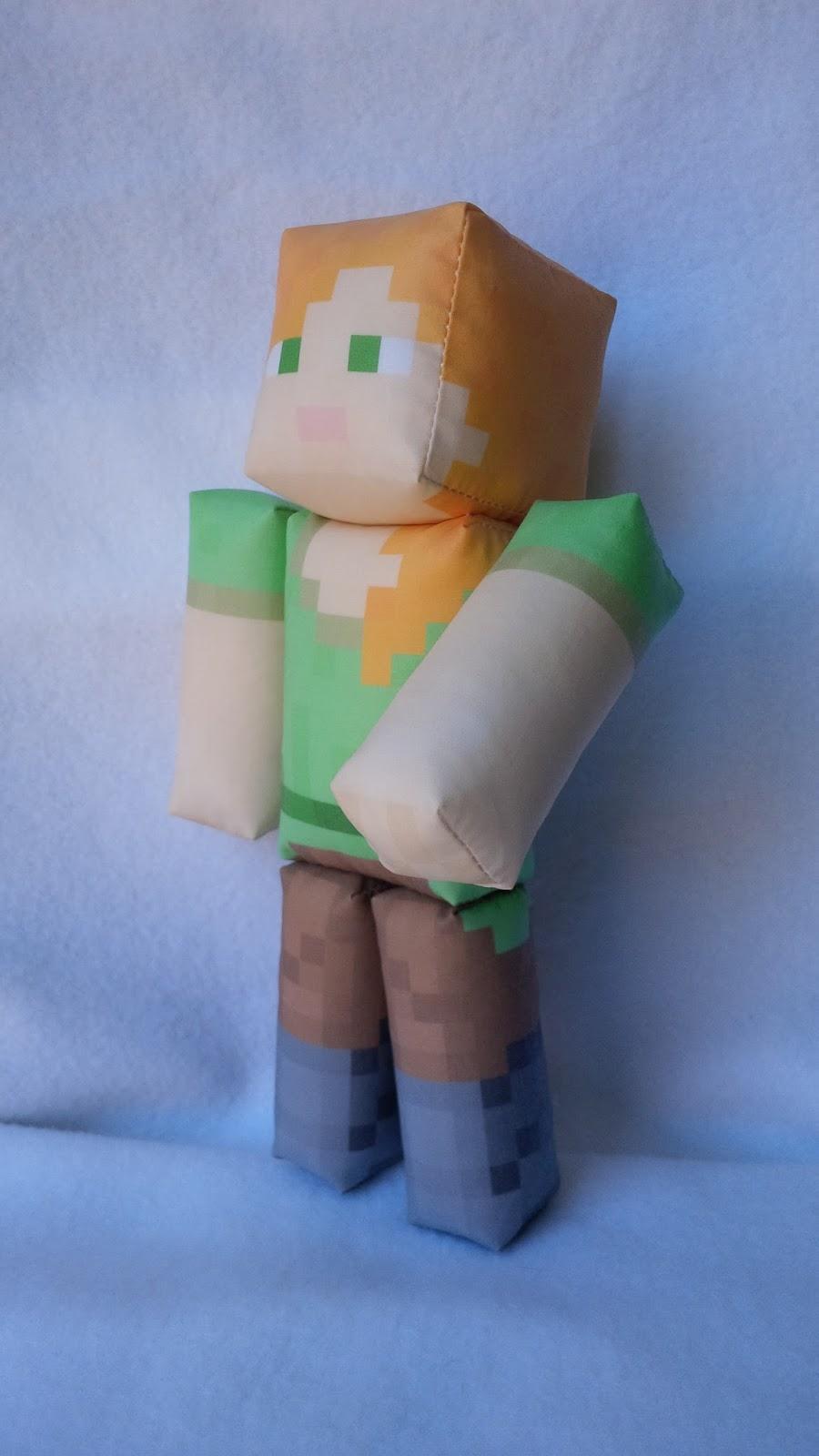 Craftingnerdy Minecraft Inspired Steve And Alex Plush Toys