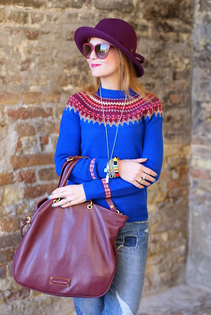 boutique by jaeger sweater, fair isle jumper, Ecua-Andino hat, Fashion and Cookies, fashion blogger