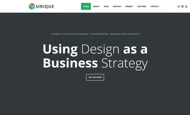 Unikue - Drupal One Page Theme