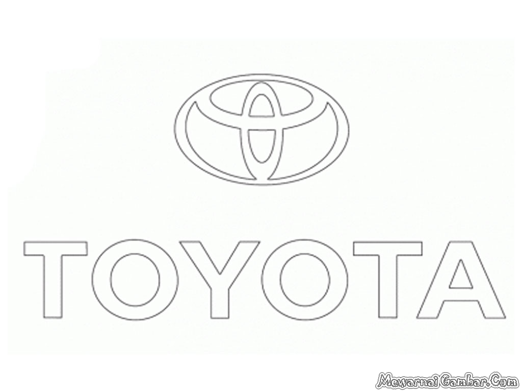 toyota logo sketch coloring page