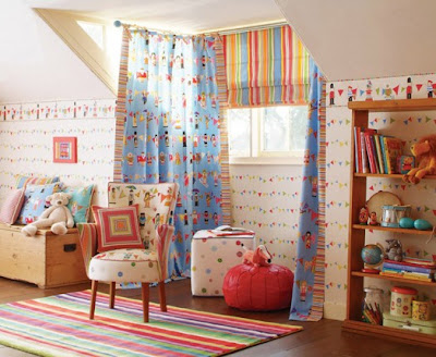 colorfull curtain kids bedroom