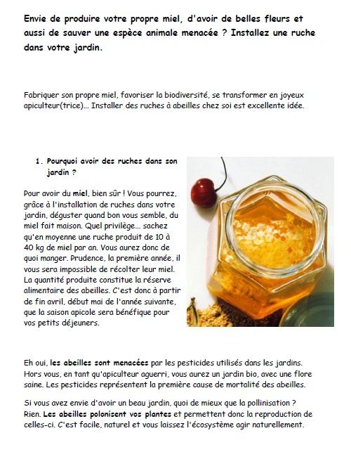 Breuillet nature installez une ruche dans votre jardin - Avoir une ruche dans son jardin ...