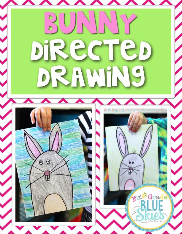 http://firstgradeblueskies.blogspot.com/2015/03/bunny-and-bird-directed-drawing-video.html