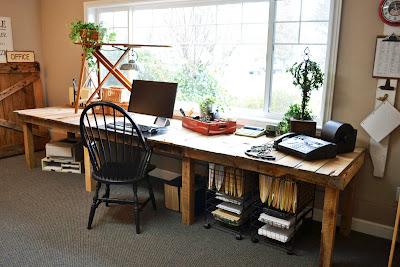pallet wood desk