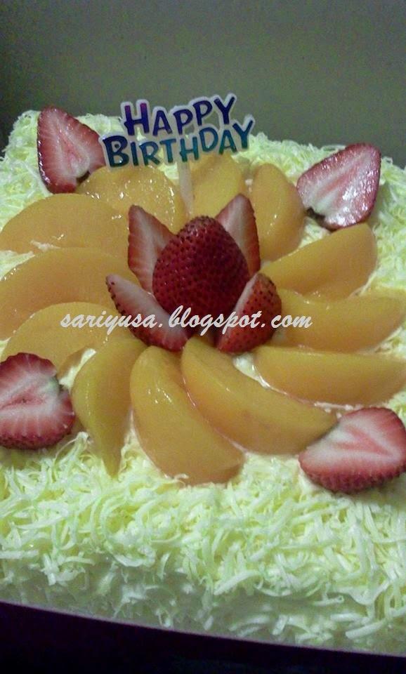 SNOW CHEESE CAKE... UNTUK HARI JADI