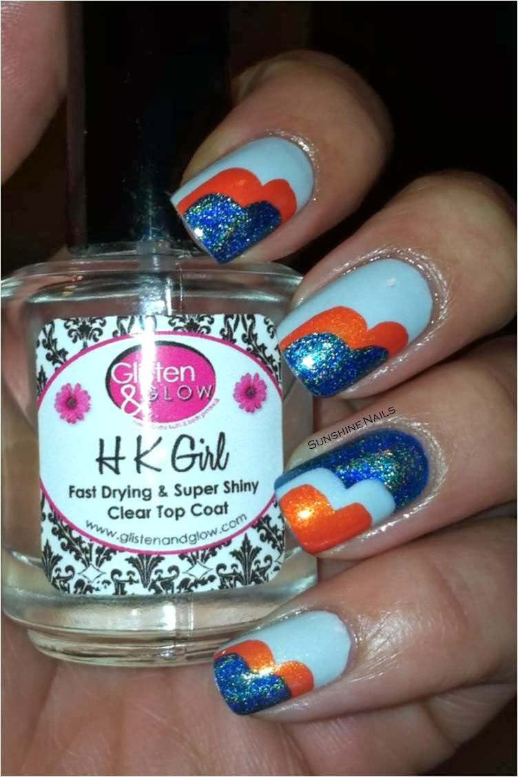 denver broncos nail art designs