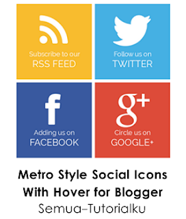 Metro Style Social Icons for Blogger