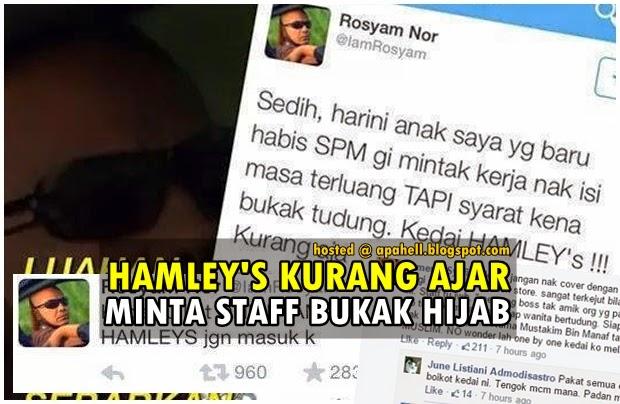 Isu Hamleys, Tudung, Rosyam Nor Cetus Amarah Rakyat Malaysia (6 Gambar)