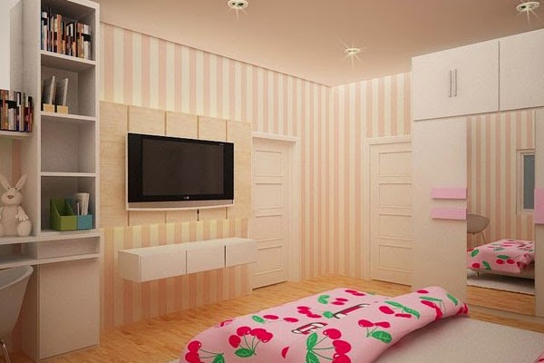 Perfect girls room design and decor ideas a room for for Bedroom ideas for teenage girls with big rooms