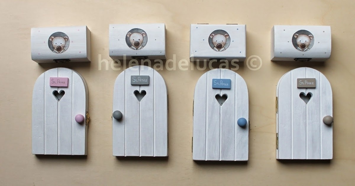 Helenadelucas cajitas guarda dientes for Puertas ratoncito perez baratas