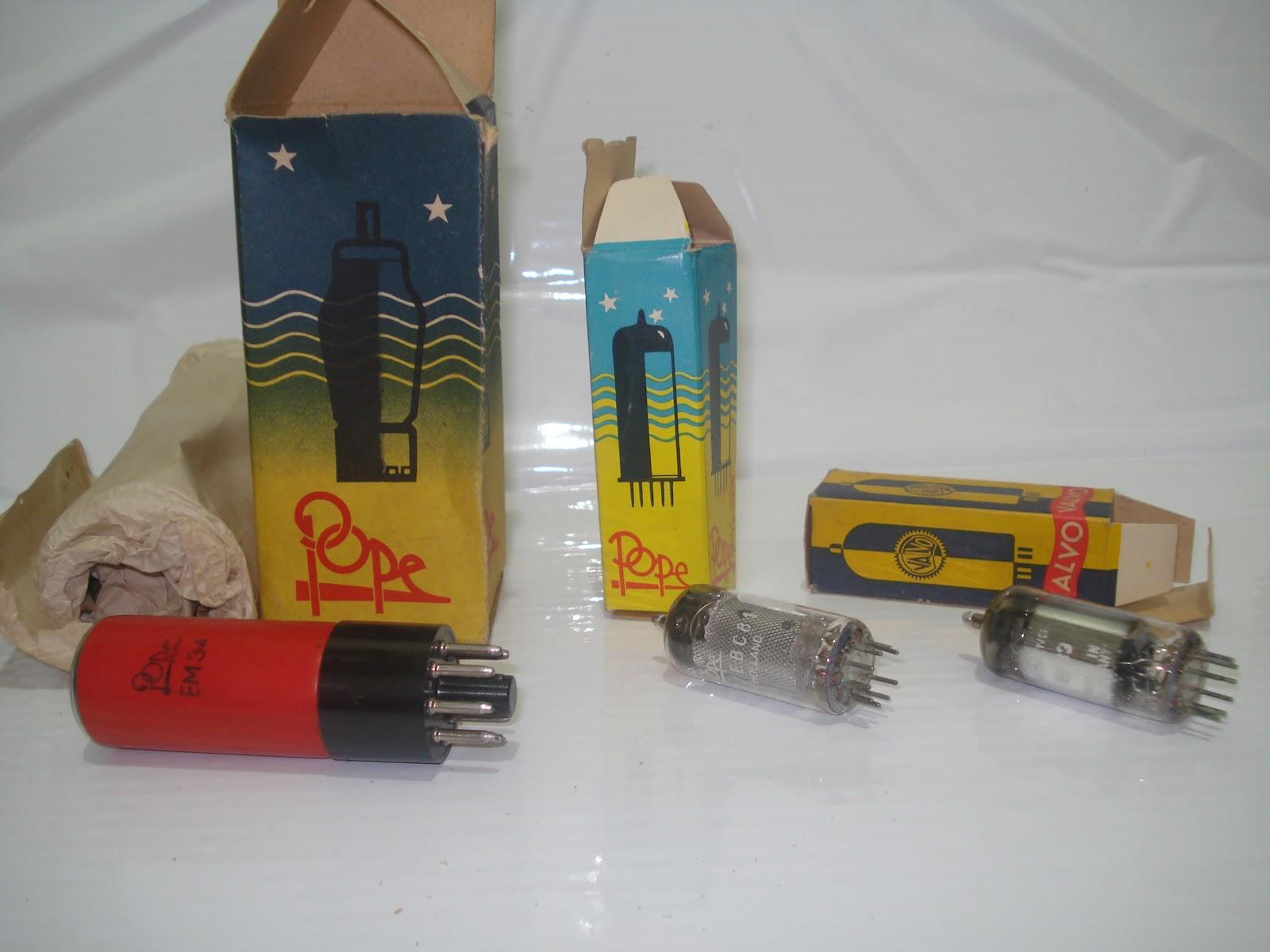 buah bohlam lampu untuk radio tabung kondisi nos barang baru stok ...