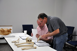 Bone features are used to determine age, sex, stature and ancestry.