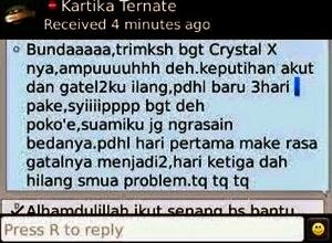 testimoni crystal x ampuh