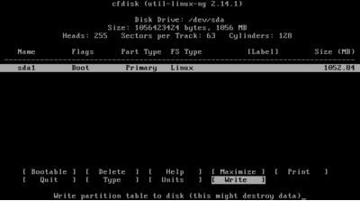 Android Partition setup