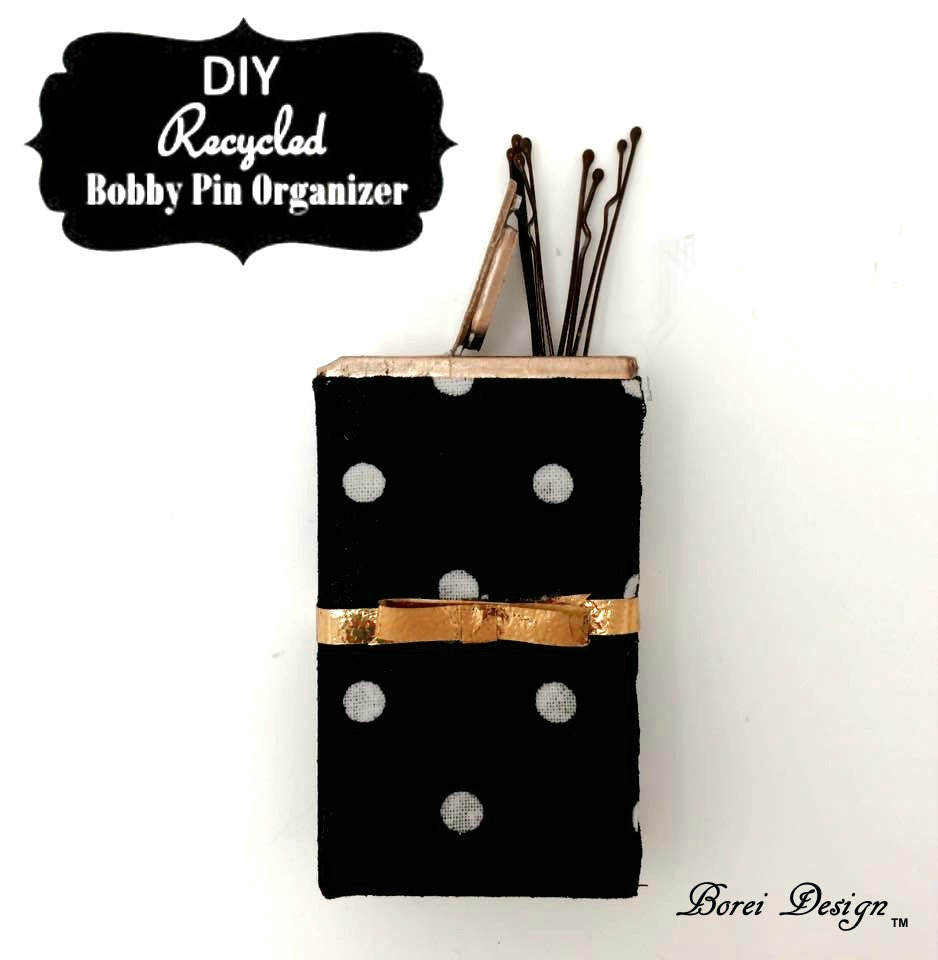 DIY Recycled Bobby Pin Organizer Container Tutorial