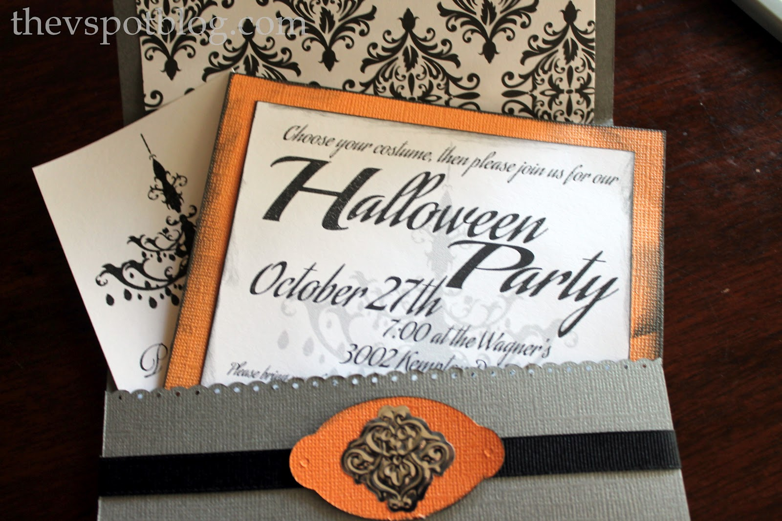diy halloween party invitations for the non scrapbooking non paper crafting types out there - Homemade Halloween Party Invitations
