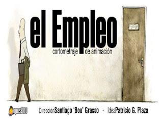 Cartel del cortometraje 'El empleo'