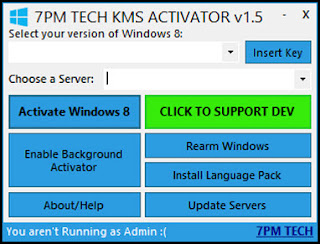 serial insertion kms server selection kms activating kms background