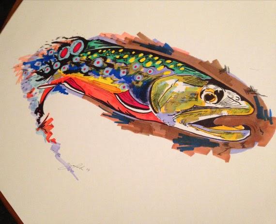 The fiberglass manifesto fly fishing ruins lives art prints for Fly fishing art