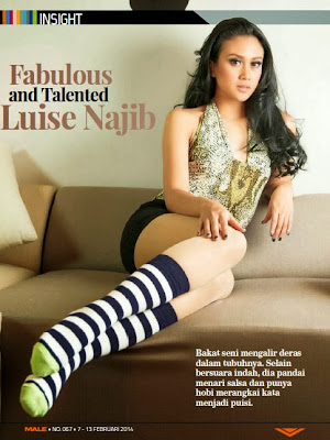 Luise Najib HQ Pictures Male  Magazine Photoshoot February 2014
