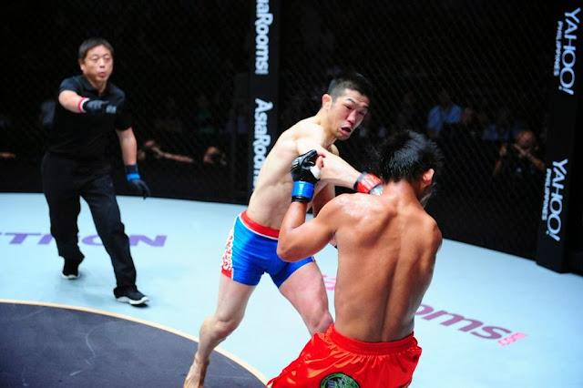 Koji Oishi KO's Honario Banario in ONE FC 13