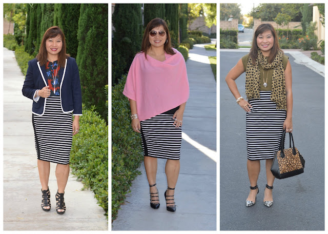 WHBM Knit Stripe Skirt