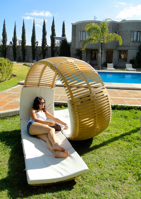 Loopita chaise lounge chair design spicytec for 2 person outdoor chaise lounge
