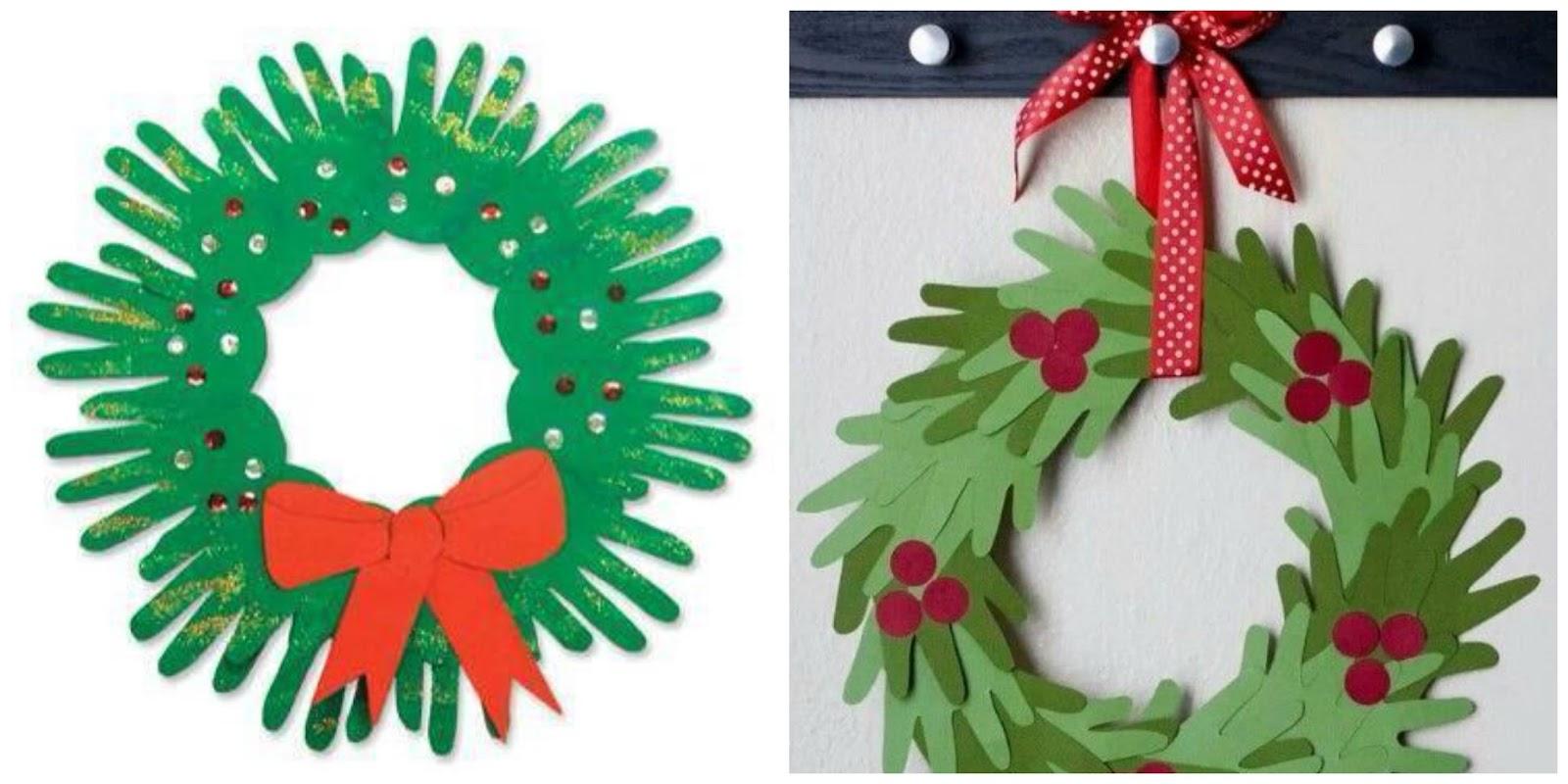 Coronas navide as para hacer con ni os - Como hacer figuras de navidad ...