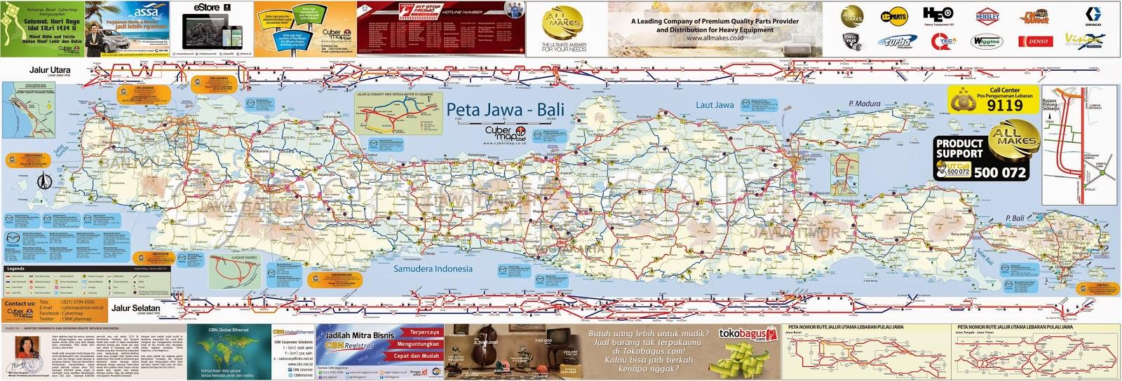 Peta jalur Mudik 2014 Lengkap