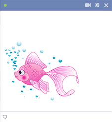 Pink Fish Icon for Facebook