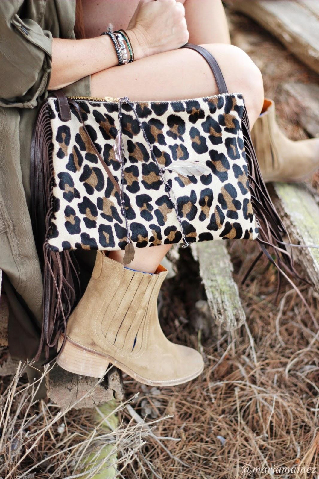 bandolera animal print- leopard print - botines de verano - tabatha shoes