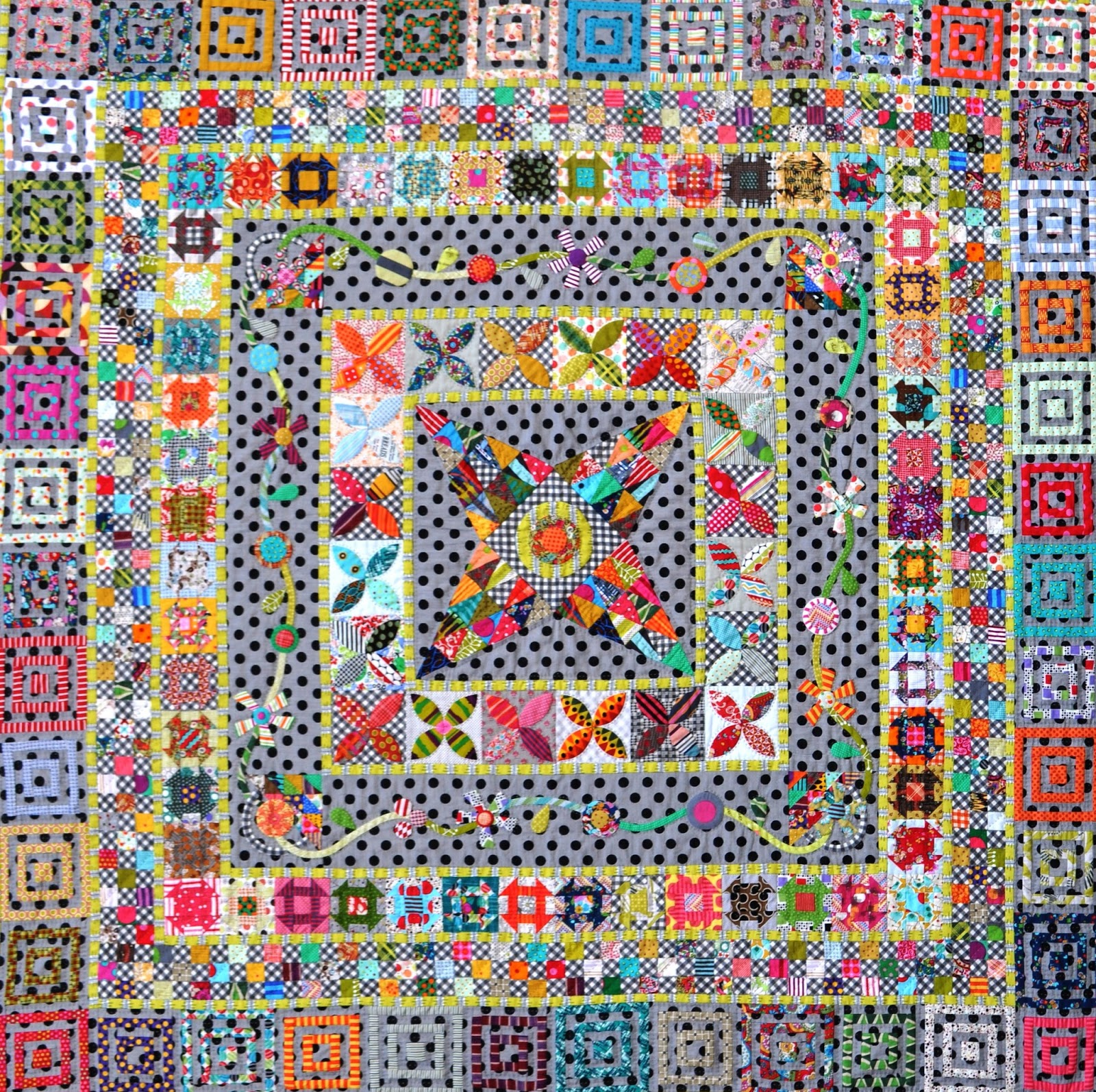 Midnight at the Oasis Medallion Quilt-Along - Color Girl Quilts by ...