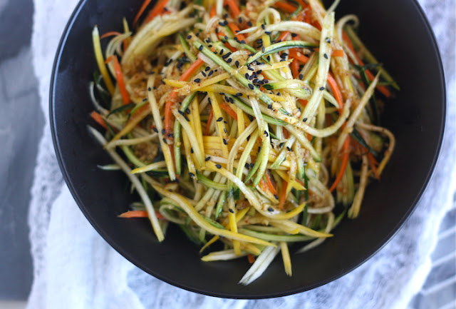 Zucchini Slaw with Asian Vinaigrette
