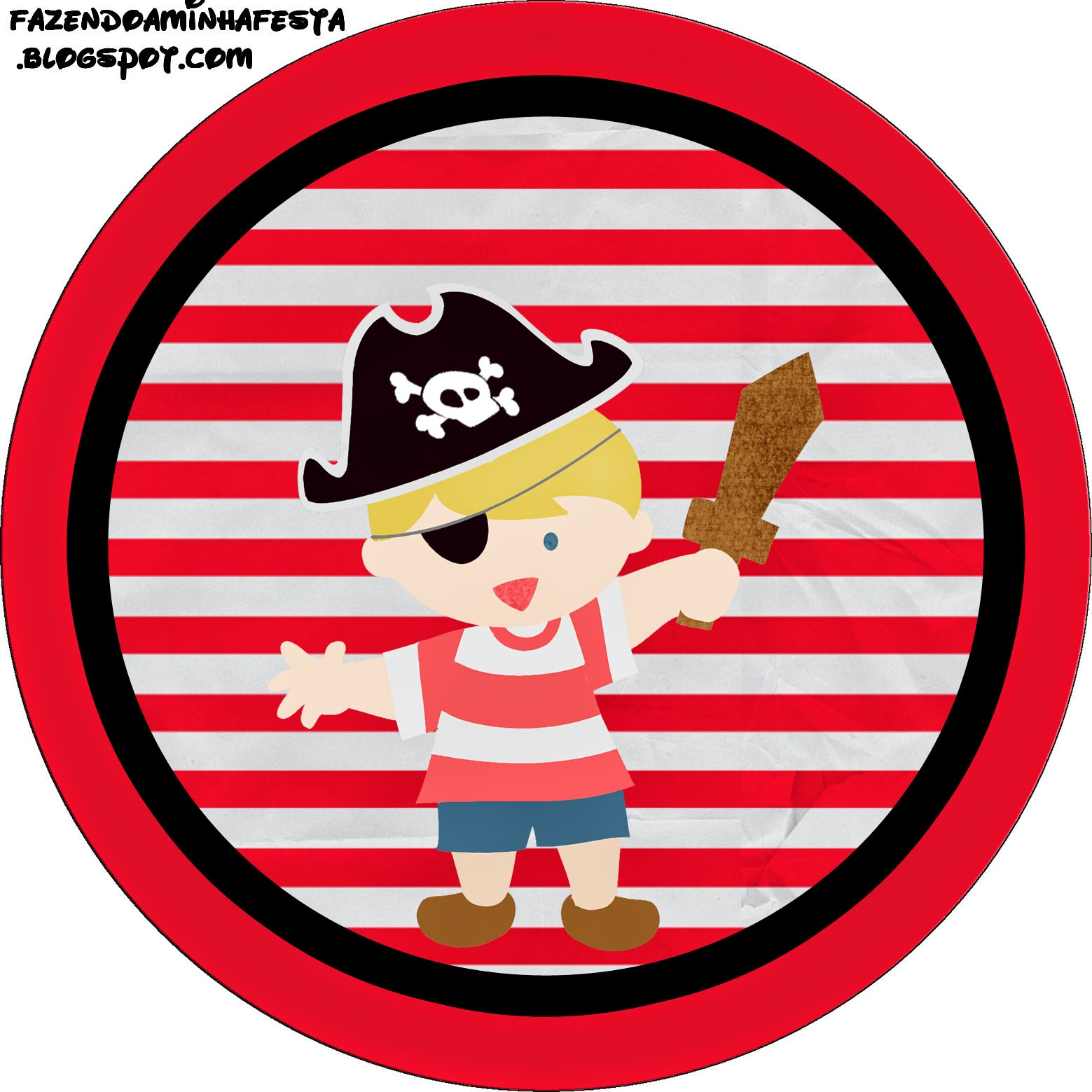 Free Printable Pirate Labels