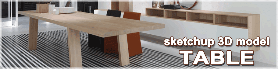 sketchup models table