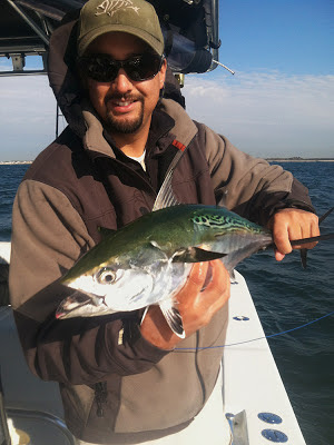 Veteran saltwater fly fisherman James Jindal with a nice false albacore