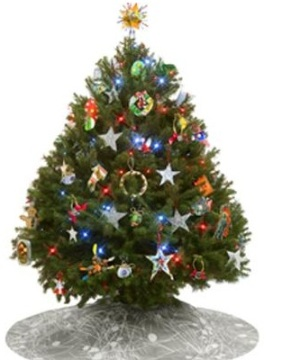 Candies And Cookies Can Also Be Added In The Decoration Of A Christmas Tree.  Children Love To Decorate The Tree By Making Different Shapes Of  Gingerbread ...
