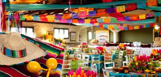 Gastronom a coral fiestas y eventos for Decoracion kermes mexicana