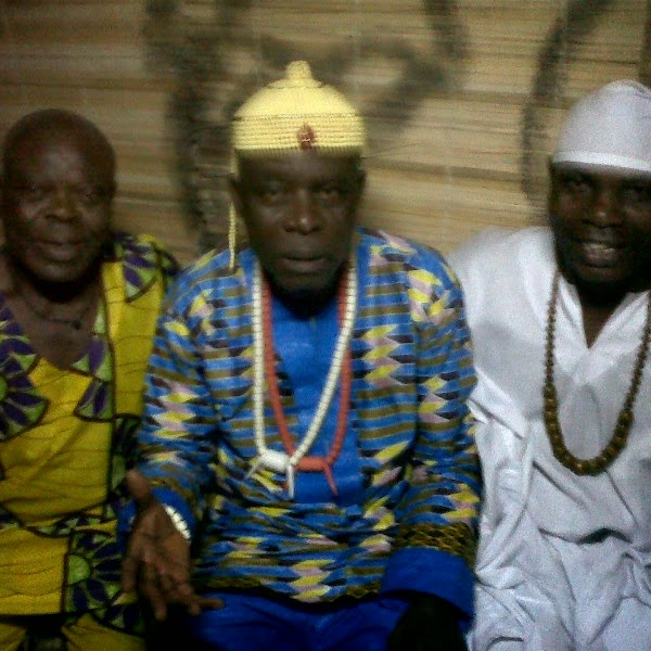 EYO GEORGE, EDDIE UGBOMA AND I