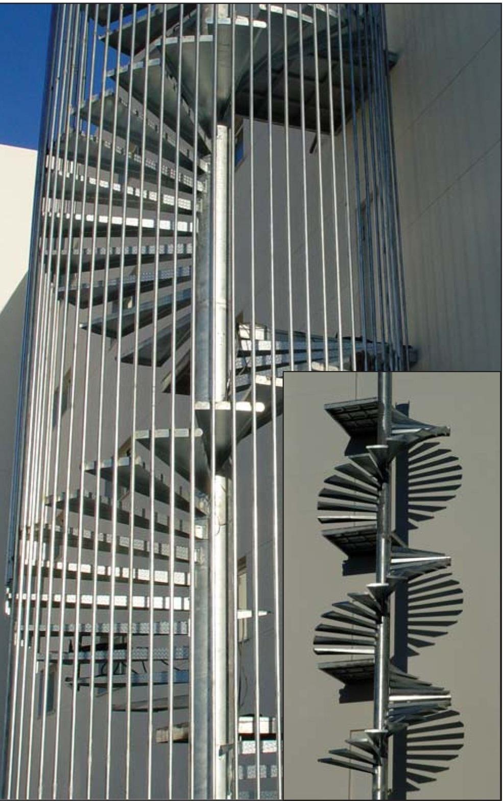 Cerrajeria sotelo y automatismos escaleras metalicas for Escaleras de emergencia