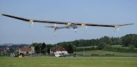 Solar aircraft managed to make an international flight for 13 hours non-stop