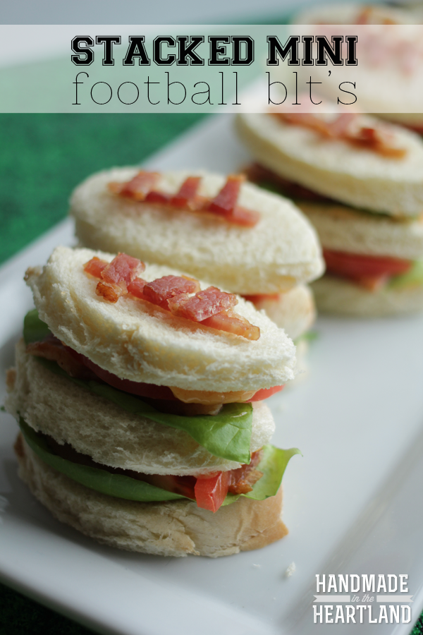 Stacked Mini Football BLT's