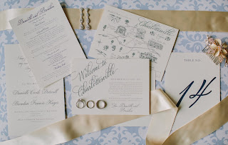 wedding papers calligraphy design