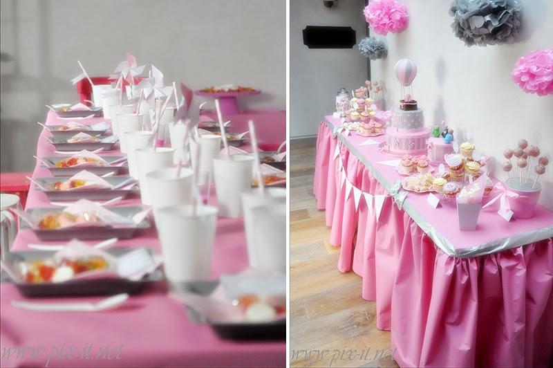 sweet table anniversaire rose et gris le candy bar. Black Bedroom Furniture Sets. Home Design Ideas