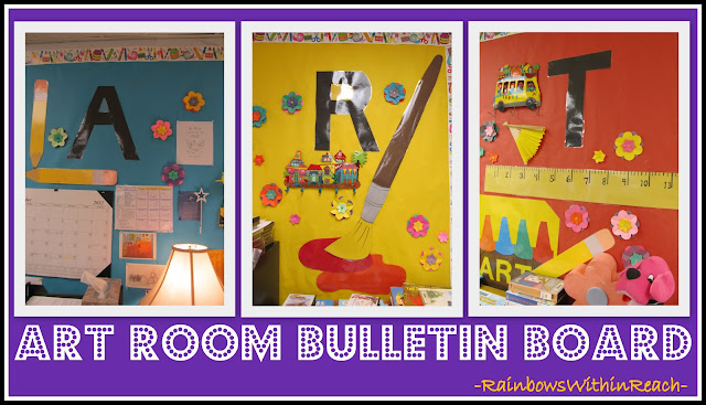 photo of: Art Room Bulletin Board (via Art Room RoundUP from RainbowsWithinReach)