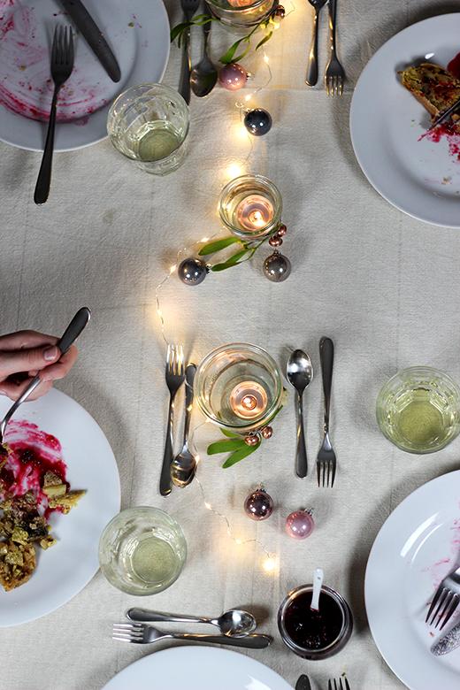 Wirsing-Maronen-Strudel mit Cranberrysauce, vegetarisches Weihnachtsmenü, Holunderweg 18