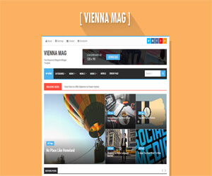 Template Blogspot Responsive Vienna Mag