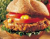 вегетарианский бургер, бургер из чечевицы, диетический гамбургер